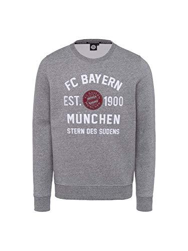 FC Bayern München Sweatshirt est. 1900 grau-Melange, XXL