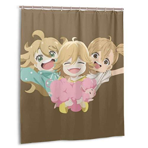 yongxing Tsumugi Poco Naru Duschvorhang Badezimmerdekoration wasserdichte Duschvorhänge aus Polyestergewebe