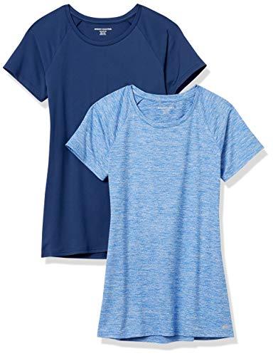 Amazon Essentials Camiseta de Manga Corta Tech Stretch Paquete de 2 Athletic-Shirts,...