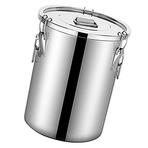 joyMerit Edelstahl Getreidebehälter Reisspender Vorratsdosen Mehlbehälter für Getreide, Öl, Milch, Wein, Wasser - 9L