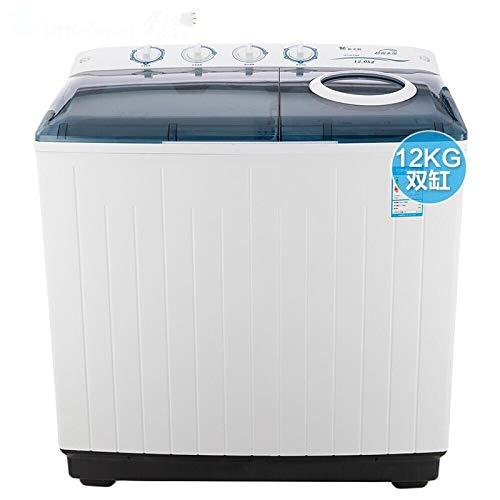 Lavadora 12 kg KG Mayor Grande Doble cañón bicilíndrico Semi-automática de los consumidores y la elución Comercial White Hotel