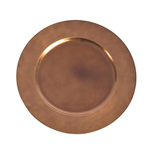 """SARO LIFESTYLE CH001.CO13R Classic Design Charger Plate, Copper, 13"""" (Set of 4 pcs)"""