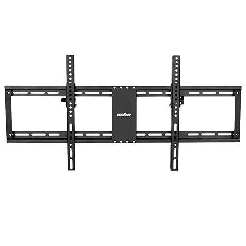 UNHO Soporte de Pared Fijo para TV 32'- 85': Ultra Delgado Soporte Televisores para LED LCD Plasma, Inclinable de 15˚ Carga Máx 60kg VESA 800x400, con Nivel de Burbuja