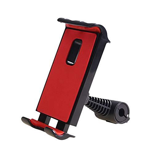 HIOD Soporte para Teléfono para Tableta de Coche Soporte Ajustable para Asiento Soporte para Teléfono de Coche para Reposacabezas 360 Soporte de Montaje para Teléfono Móvil con Rotación,Red