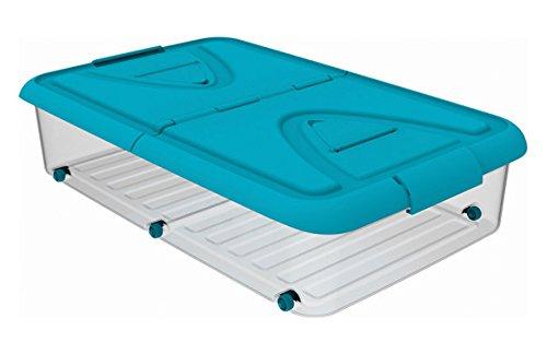 PLASTIKEN - Caja Bajo Cama C/Ruedas Azul Plastiken 60 L