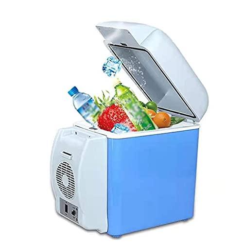 BPDD Mini Nevera 7.5L Refrigeración de Coche Caja fría eléctrica portátil fría Caliente para Coche, Barco y jardín de Acampada 12V