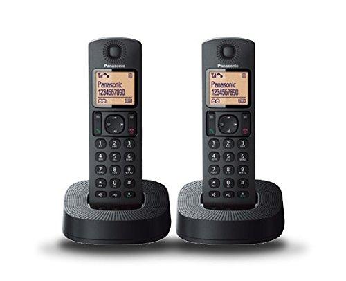 Panasonic TGC312SPB- Teléfono Fijo Inalámbrico Dúo (LCD, Identificador De...