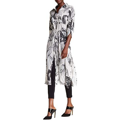 Yoana Baraschi Womens Garden Maxi Shirt Dress Dove Large