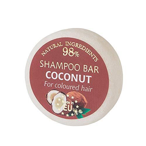 SAULES FABRIKA Duft Shampoo – Bar Naturkosmetik 100% Handmade natürliche Shampooseife handgemachte Haarseife 60g Haarwaschseife für alle Hauttypen (Kokosnuss)