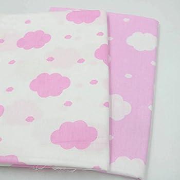 2 piezas 50 cm * 160 cm nubes impresas tela de algodón telas para ...