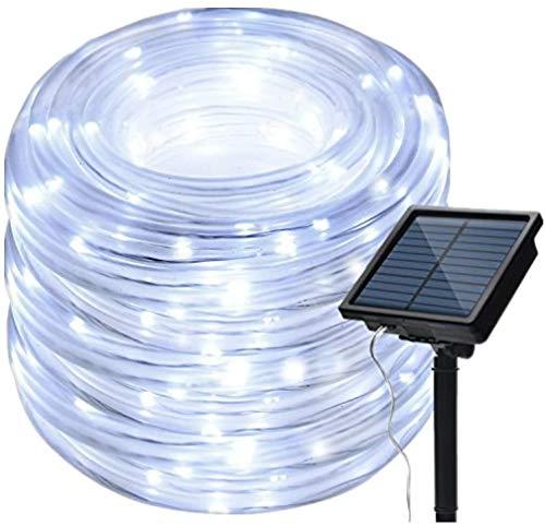IMAGE Solar Rope Lights Outdoor Garden 13M LED String Rope Light Copper...