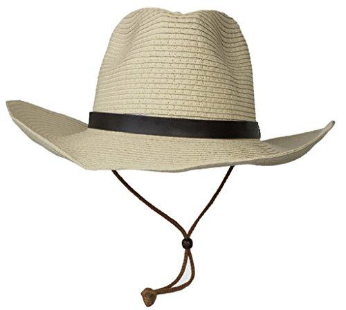 Bigood Panama Femme Homme Chapeau à Bord Large Plage Soleil Pêche Eté Casual Abricot