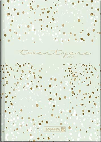 Brunnen 1079515041 Buchkalender Modell 795, 1 Seite = 1 Tag, 14,5 x 20,6 cm, Grafik-Einband Confetti, Kalendarium 2021