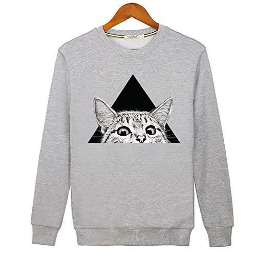 ZIXUAAB Herren Sweatshirt Trui Sweaterheren Crew Neck Sweater, Merino