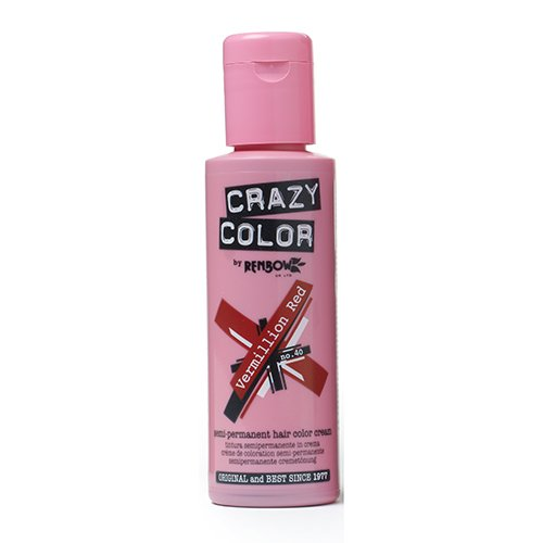 Renbow Crazy Color Color de cabello Crema Coloración Semi-permanente 40 Vermillion Rojo - 100 ml
