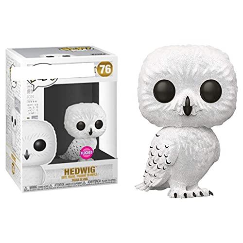 LKOP Figuras Pop Flocked Hedwig Flocked 10Cm, Figura De Acción De Vinilo Juguete De Colección...