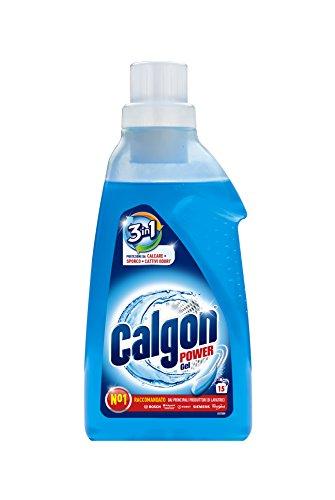 Calgon 3-in-1 Power Gel – Wirksam gegen Kalk, Schmutz und Gerüche – Schützender Wasserenthärter für die Waschmaschine – 1 x 750 ml