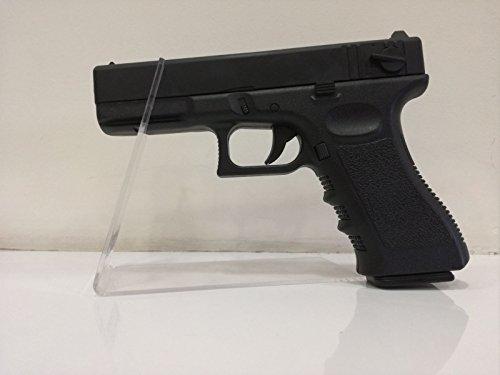 Golden Hawk Glock 18 Negra corredera de Metal Potencia <0,5 Joules. 6mm Muelle