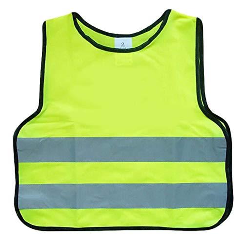 Veiligheidsvesten fluorescerend gele kind reflecterend licht en ademend bij nacht werkkleding 2-delig