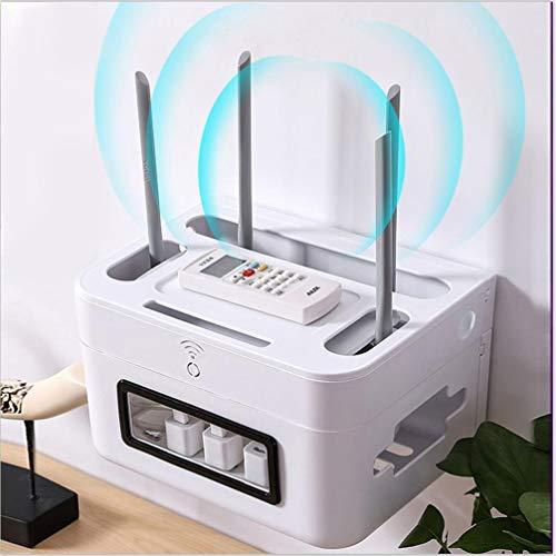 ZYHA Kabelaufbewahrungsbox Kabelkasten kabelboxen ,Kabelmanagement Box zum Kabel verstecken bei Kabelsalat ,Wand WiFi Router,Kein Stanzen,Mehrere Spezifikationen verfügbar
