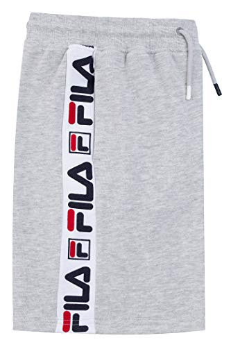 Fila Boys Shorts Fleece and French Terry Active Shorts Kids Clothes (Grey Heather-French Terry, Large)