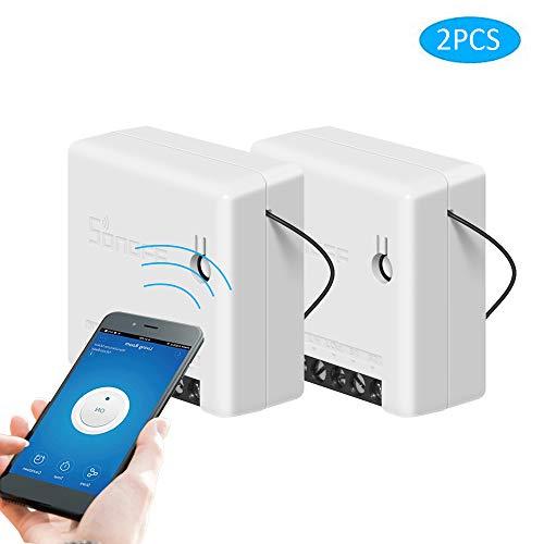SONOFF Mini WiFi Smart Switch DIY Smart Home für elektrische Haushaltsgeräte,Zwei-Wege-Externer Schalter Arbeit mit Alexa (2 Stück)