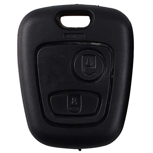 Heart Horse Remote Key Case Fob Compatible con Peugeot 107207407206306406806 Citroen C1 C21 C3 C4 C5 2 Botones (1)