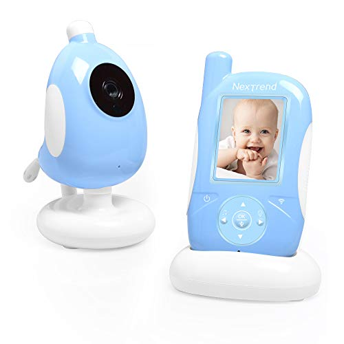 Video Baby Monitor, NexTrend Baby Monitor Camera with 2.4 Inches Screen,Night Vision,Two Way Talk,Temperature Monitoring,Echo Mode,Lullabies,Alarm Function Monitors