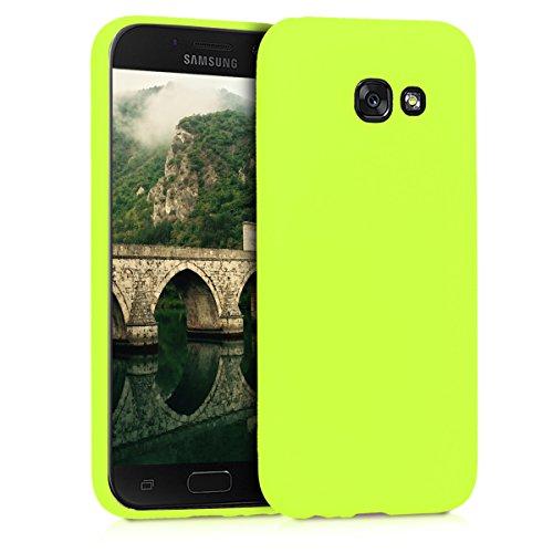 kwmobile Custodia Compatibile con Samsung Galaxy A5 (2017) - Cover in Silicone TPU - Back Case per Smartphone - Protezione Gommata Giallo Fluorescente