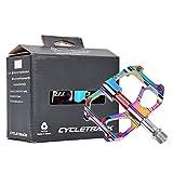 Pedales de MTB Pedal de Plataforma de Bicicleta de Ciclismo Ultraligero con 3 Rodamientos Sellados Pedales Planos de Bicicleta Pedal de Bicicleta de Carretera Duradero Antideslizante