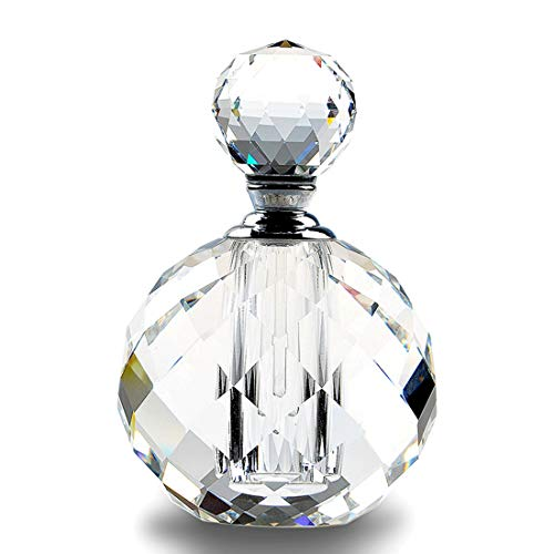 H&D Crystal Art Deco Vintage Style Perfume Bottles Empty...