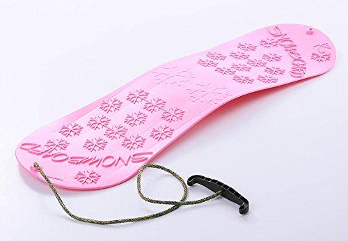 Unbekannt Snowboard Kindersnowboard Schlitten Schneegleiter Schneerutscher inkl. Zugseil 5 Farben (Rosa)