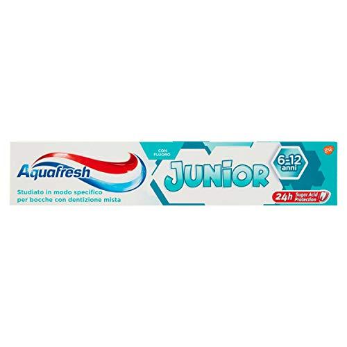 Aquafresh Dentifricio Junior, Protezione al Fluoro, Fresh Mint, 75ml