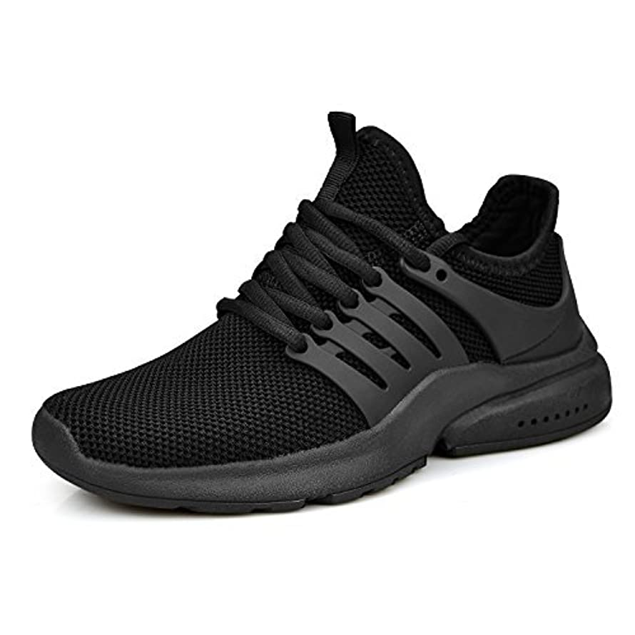 知覚できる吸収剤手のひらZOCAVIA Women's Running Shoes Ultra Lightweight Breathable Mesh Sport Sneaker Casual Athletic Shoes(BlackSize 9) [並行輸入品]