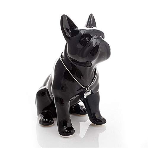 KIKIBEDYZ Statues Sculpture Figurines Statuettes,Black French Bulldog Dog Design Abstract Art Animal Figurines Modern Creative Statuettes Crafts for Home Corridor Artwork Ornaments Decoration
