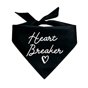 Tees & Tails Heart Breaker Valentine's Day Triangle Dog Bandana (Assorted Colors)