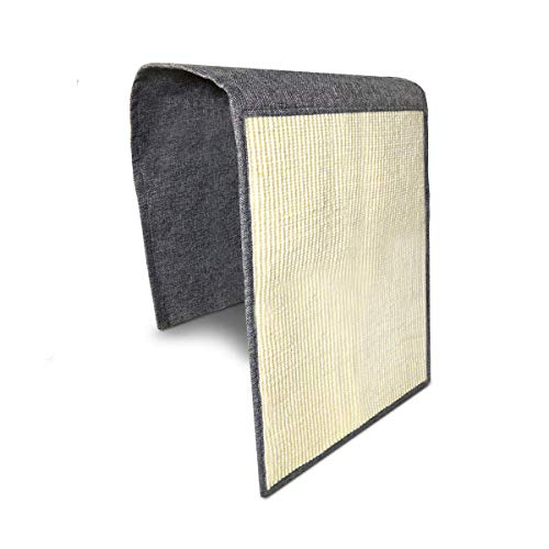 KECUCO Cat Scratching Mat, Natural Sisal Couch Protector for Cats, Cat Scratcher Sofa Cover to Prevent Furniture Scratch, Cat Couch Protector Guards Pet Scratch Protector and Sisal Sofa Shield