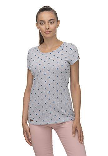 Ragwear T-Shirt Damen T-Shirt Mint DOTS 2011-10023 Grau Light Grey 3003, Größe:XS