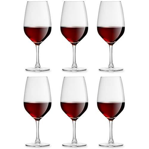 Libbey Bicchiere da vino Varna - 53 cl / 530 ml - set di 6 pezzi - forma classica - alta qualità - lavabile in lavastoviglie