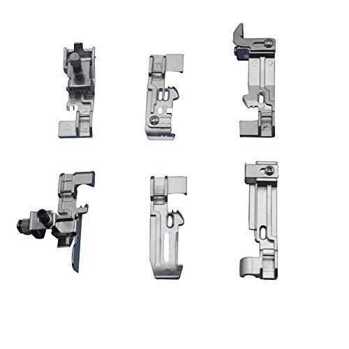 Juego de 6 prensatelas para máquina de hornear, de aleación de zinc, para Singer 14SH754 14SH644 14HD854, para Brother M3034D, DF Serie zinc alloy como se muestra en la imagen
