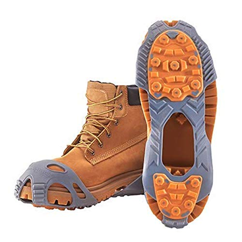 Winter Walking Low-Pro Ice Cleat, Heavy-Duty Industrial Grade Traction Aid for Walking on Snow and Ice, Size Small (1 Pair)