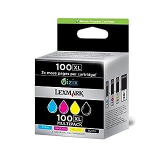 Lexmark No. 100XL High Yield Return Program Multipack Ink Cartridge - Black/Cyan/Magenta/Yellow (B006S08UZ8) | Amazon price tracker / tracking, Amazon price history charts, Amazon price watches, Amazon price drop alerts