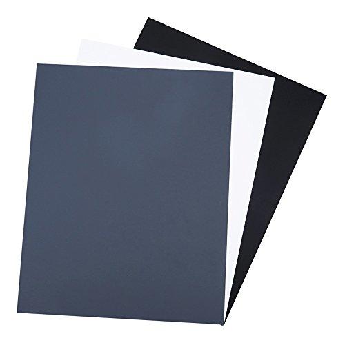 18% Neutral Gray Card JJC White Balance Card for DSLR Camera Video Film 10x8 PVC Exposure Photography Card Custom Calibration Camera Checker Card with Gray,White,Black Cards & a Storage Bag