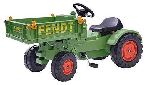 BIG spielwarenfabtik 800056552 BIG - Fendt Geräteträger - Kindertraktor, Spielfahrzeug mit Präzisionskettenantrieb, 3-fach verstellbarer Sitz, bis 50 kg, Fendt Lizenz, für Kinder ab 3 Jahren