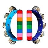 2pcs Rasseln Handglocken Baby Spielzeug Kinder Musikinstrumente Spielzeug Kinder Holz Spielzeug Holz Spielzeug Hand Glocken Mit Glocken