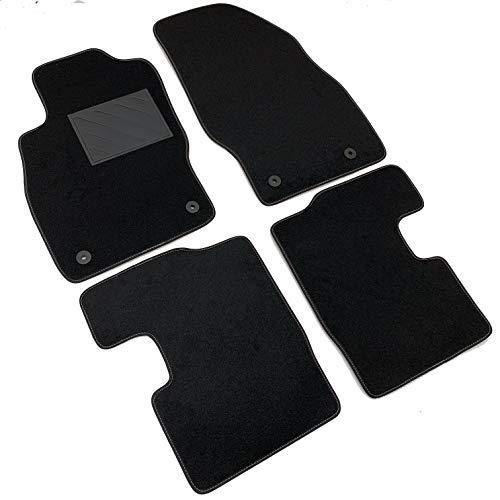 MTC Fußmatten für Opel Corsa D 2006-2014 und Corsa E ab 2014 bis 2019, passgenau, rutschfest, Absatzschoner aus PVC