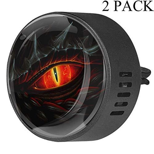 Eslifey Ambientador Coche diseño dragón Negro Ojos