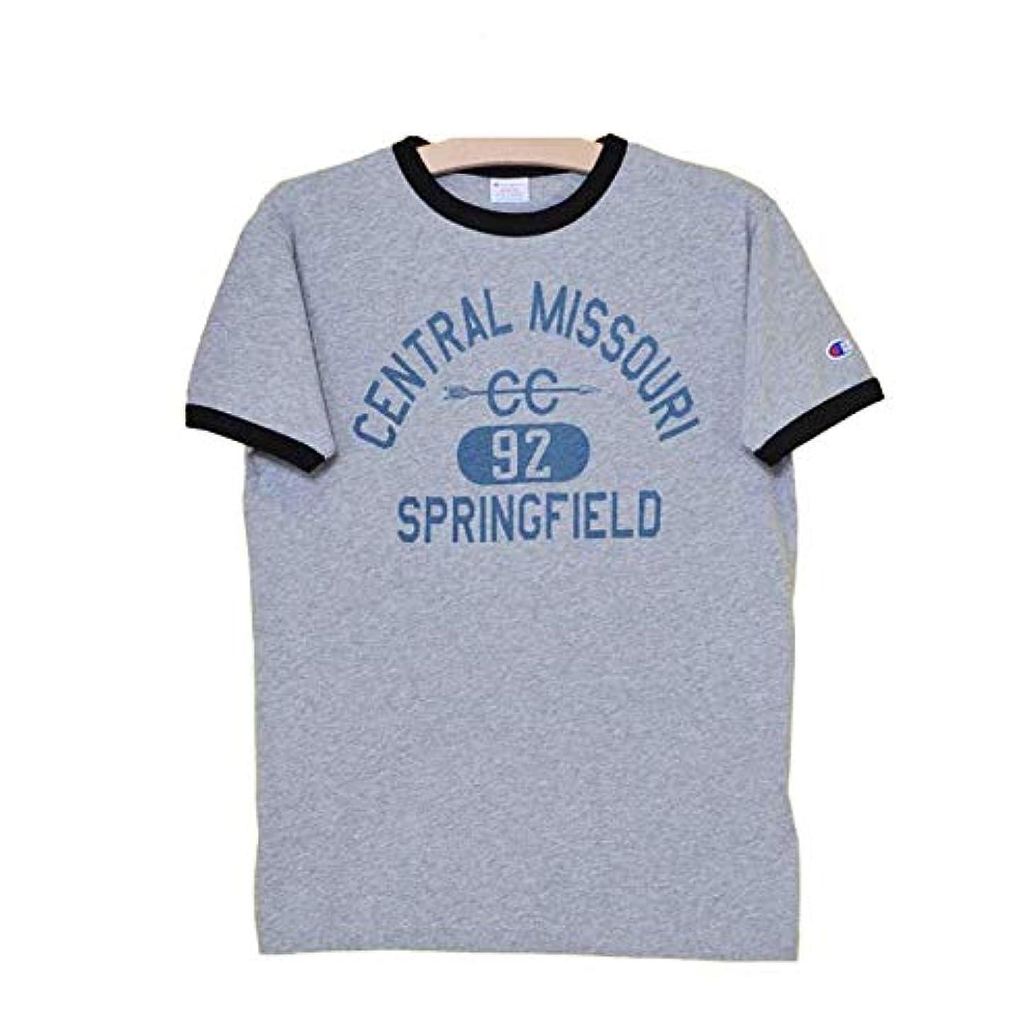 保守的改善する解説[チャンピオン] C3-M333 キャンパス 半袖プリントリンガーTシャツ メンズ アメカジ CAMPUS