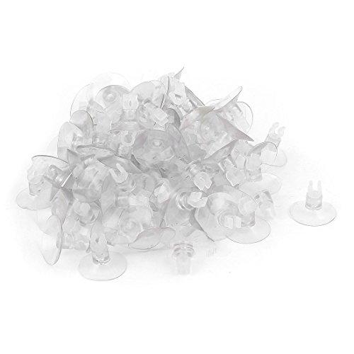 Sourcingmap® 100stk Plastik Zubehör Luftschlauch Sauger Clip Klemmen Spannen 5mm Dmr klar de