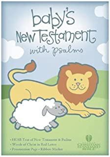 HCSB Baby's New Testament with Psalms, Light Blue Imitation Leather